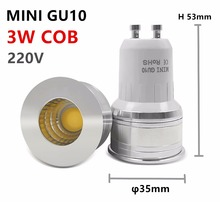 led bulb mini gu10 35mm spotlight 3w dimmable 110v 220v 240v 12v mr16 mr11 spot angle for living room bedroom table lamp small(China)