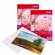 Deli printer Photo Paper A4 20sheets a Pack Color Inkjet Printer 4880dpi Photo Paper 210*297 mm glossy photo paper supplies(China)