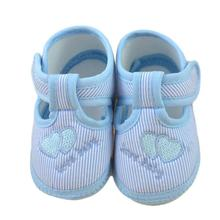 100% brand new and high quality baby shoes newborn first walk canvas shoes zapatos para bebes recien nacidos best gift(China)