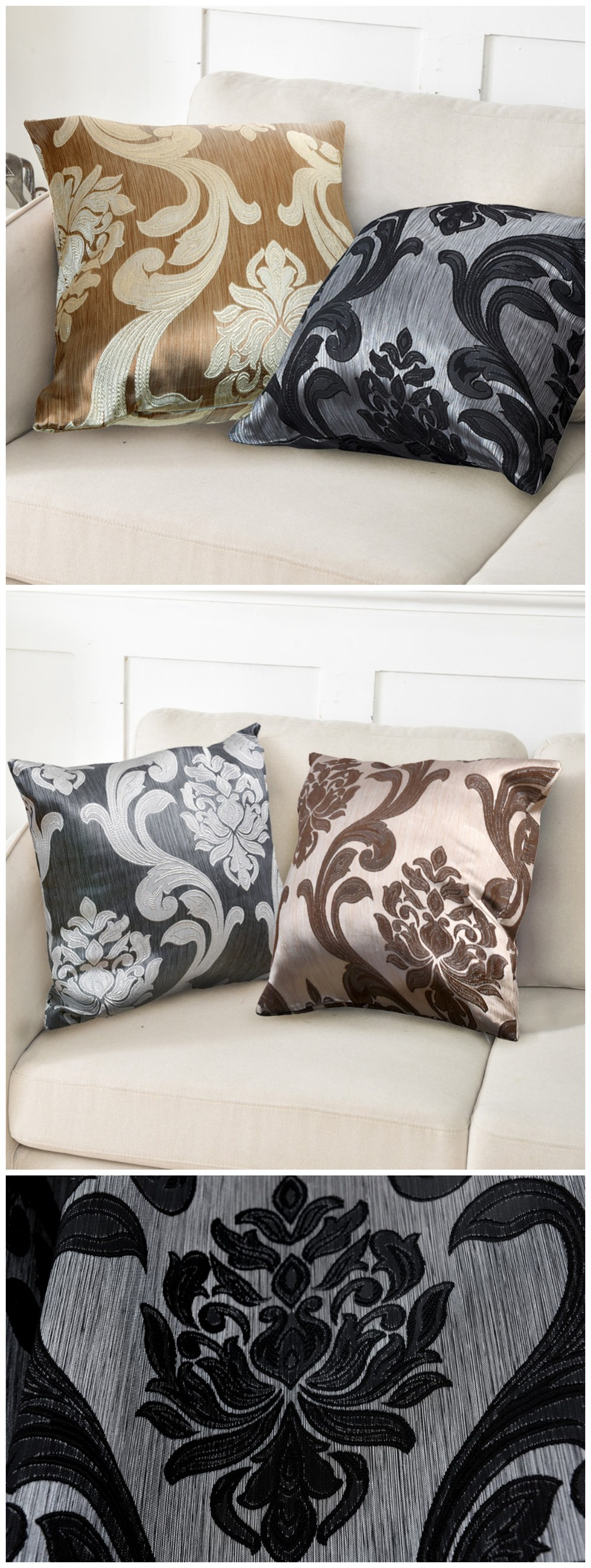 LOZUJOJU Floral Jacquard Hot Sale European Pillow Cases Cushion Covers for Home Decor Textile Rustic Bedroom Chair Living (1)