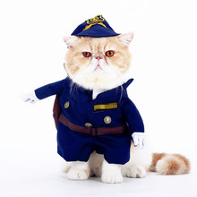 Cat Costumes For Pets Dog Cat Clothes Costume Dress Doctor Nurse Cowboy Sailor Autumn Winter Funny Suit Outfit Cotton Apparel(China)