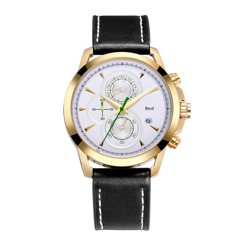 New Chronograph Sport Watch Men Multifunction Big Dial Clock Men Wach Waterproof Quartz Wrist Watch for Men reloj hombre<br>