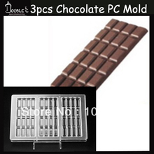 15x7.4x0.8cm*3cups Shape Chocolate Clear Polycarbonate Plastic Mold,DIY Handmade Chocolate PC Mold,Chocolate Tools,Good Quality