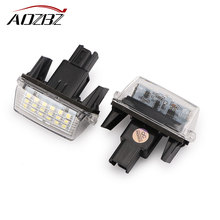 2pcs LED License Plate Light Bulb Error Free Car led Light SMD3528 6500K For Toyota Camry Yaris Hybrid 18-led car light(China)