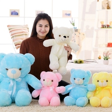 50cm Romantic Colorful Flashing LED Night Light Luminous Stuffed Plush Toys Teddy Bear Doll Lovely Gifts for Kids and Friends
