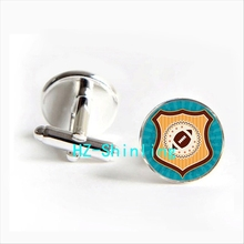 2017 wholesale American Football Cuff link Rugby Football Cufflink Shirt Cufflinks Women Sports Cuff