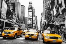 Custom Canvas Wall Decoals New York Poster The NY Taxi NO.1 Wall Stickers Street Taxi Wallpaper Office Mural Chrismas Decoration