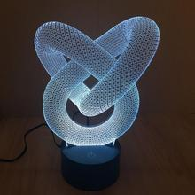 NEW 7 color Changing Lamp 3D Bulbing Light Heart visual illusion LED lamp for kids Christmas Party Decoration Light gifts