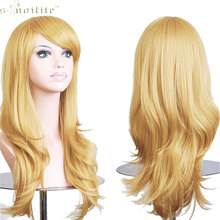 "SNOILITE 23"" Hallowee Anime Wig Synthetic Hair Long Wave Cosplay Wig Synthetic Hair Golden Blonde"