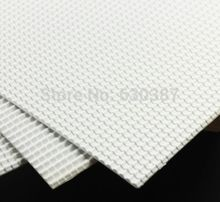 ABS42 2pcs ABS Plastic Styrene Plasticard Roof Tiles Sheet 215mm x 300mm White(China)