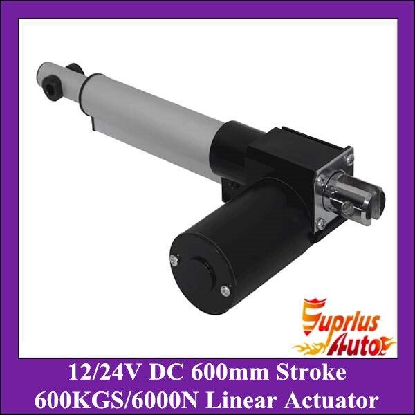 Heavy Load !!  6000N/600kgs load heavy duty linear actuator, DC 12V/24V 24inch/600mm stroke 5mm/s linear actuators<br>