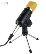 MK-F100TL USB Microphone Broadcasting 3.5mm Wired Stereo Condenser Microphones For Computer Karaoke Conference Notebook Studio(China)