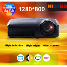 DLP Full HD Daylight Projector 7500 Lumens Portable HD 1080P HDMI VGA Home Cinema Light Projector Free keyboard Optional System