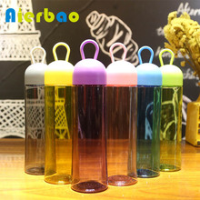 Portable BPA Free Plastic Water Bottle Sports Drinking Bottle Best For Climbing Travel gym Simple Bottle(China)