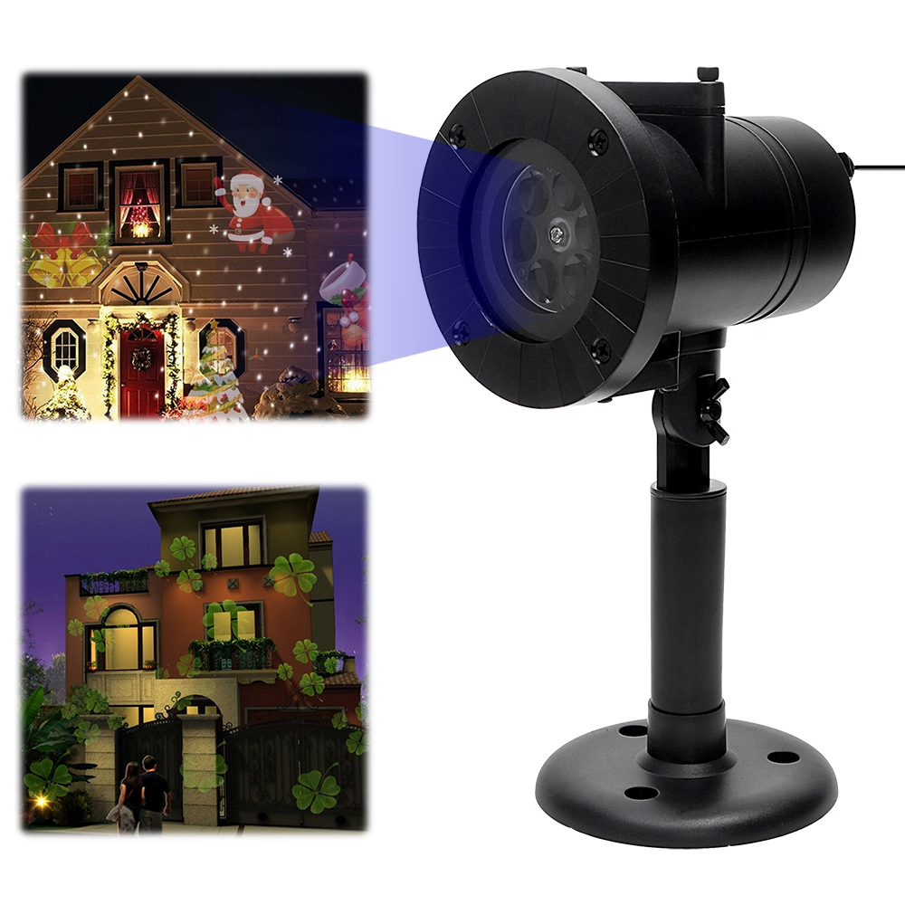 iTimo 12 Patterns Christmas Laser Snowflake Projector LED Stage Lamp Outdoor Star Light Waterproof Home Garden Holiday Decor<br>