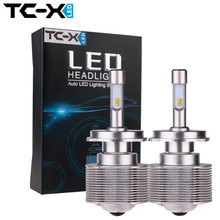 TC-X High Lumen 7000  LED Car Headlights Bulb Kit  H4 Hi/lo 80W /Set H11 HB3 HB4 H7 Head Lamp Fog Light Kit LED Auto Front Bulbs