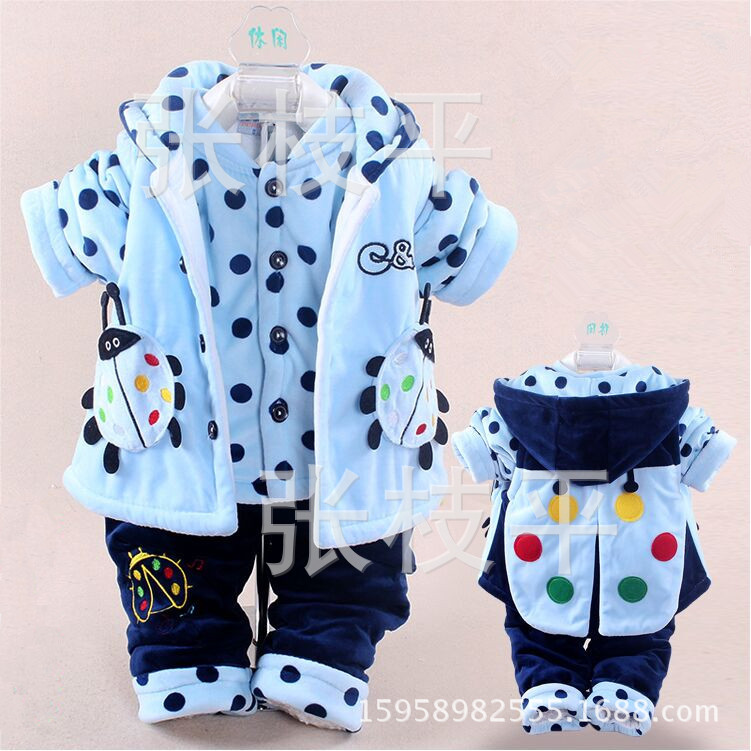 winter new born infant baby girl clothes clothing set sets 3 pieces(vest+coat+pants)blue red yellow sweet cute princess<br><br>Aliexpress