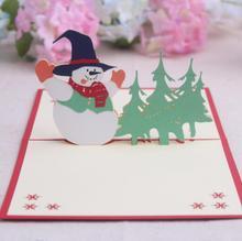 3D DIY Greeting Cards Xmas Cards Christmas Tree Holiday Christmas Greeting Card Thank You Laser Cut Card Xmas Accessories(China)
