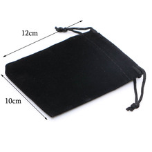 30pcs/lot Wholesale 10x12cm Drawstring Black Velvet Bags Pouches Jewelry Bags Christmas Valentines Gifts Bags