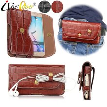 Buy Crocodile Pattern Premium PU Leather Case Doogee Mix Lite, Shoot 2, X9 Mini, DG320, Y300, X5 / X5 Pro X5S Waist Bag for $11.97 in AliExpress store