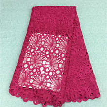 2016 New special african guipure cord lace fabric swiss cotton african lace fabrics high quality for wedding HR6-50