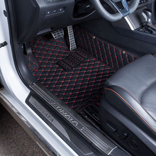 Car Floor Mats Covers top grade anti-scratch fire resistant durable waterproof 5D leather mat For Toyota Corolla Car-Styling