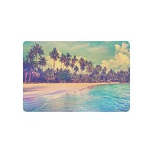 Buy Paradise Nature Scene Anti-slip Door Mat Home Decor, Tropical Sea Beach Palm Tree Indoor Outdoor Entrance Doormat Rubber Backing for $16.23 in AliExpress store