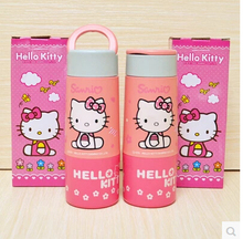 Retail Cartoon Hello Kitty Children's 6~12Hours 350ML Glass Quality Travel Vacuum Flask Water Bottles