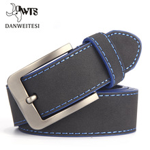 [DWTS]2017 Fashion Belt For Man Leather Belt Italian Design Casual Men's Belts With Blue and Green Color Belts