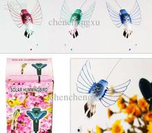 Solar humming bird hummingbird butterflies garden toys students educational solar and battery combo Energy GIFT Solar Energy Toy(China)