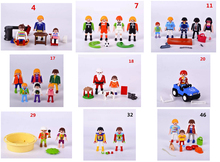 original Playmobil kits Action Figures mini figure Child Toys gift  car  Santa Claus football player family friends
