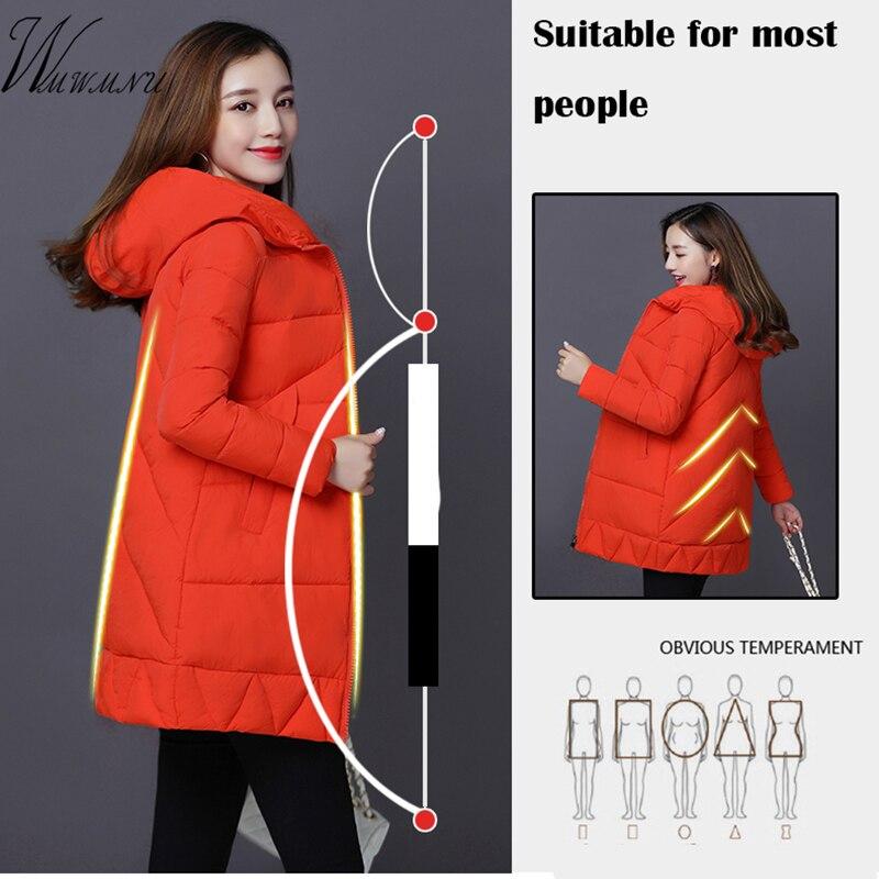 Wmwmnu fashion Medium Length Warm winter coat Women Parkas 2017 New high quality Women Down Parka Winter Coat Solid Color   Îäåæäà è àêñåññóàðû<br><br>