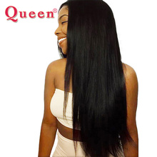 Queen Hair Products Peruvian Straight Hair Bundles 1PC 100% Remy Human Hair Weave Weaving Natural Hair Can Buy 3 or 4 Bundles(China)