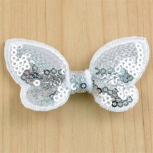 Wholesales Cheap promotion 100pcs/lot Newest 2.36 Inch Neon Sequin Bows kids Boutique Girls Hair Accessories BOW05(China)