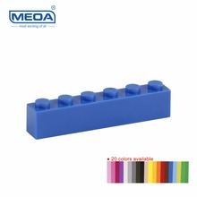 100pcs/lot MEOA Small Building Blocks Spare Parts Access Single Sales 1*6 Higher 6 Dot Brick Toys compatible with Standard block