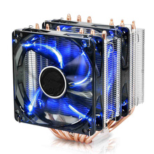 For Intel AMD i5 i7 AM3+ 115x 6 copper heatpipes Computer CPU heatsink desktop 4pin PWM LED fan radiator tower