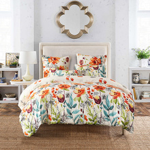 2017 Flowers Printed Twin Queen King Size Boho Palace Bedding Set Duvet Cover Bed Sheet Bed Cover  US UK RU S4BS010