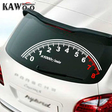 KAWOO Auto Reflective Car Rear Window Decoration Speedometer Sport Cool Car Sticker Stickers 60*30cm Accessories  Car Styling