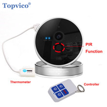 Topvico Wireless Alarm IP Camera WIFI + Remote Controller PIR Sensor 720P 1.0 MP ONVIF P2P Plug Play Video Home Security Camera