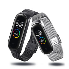 Sport M4 Xiao Band 4 Strap Wrist for MiBand 4 Compatible Metal Bracelet M4 Band 3 Band 3 Heart Wristband Smart Watch Bracelet(China)