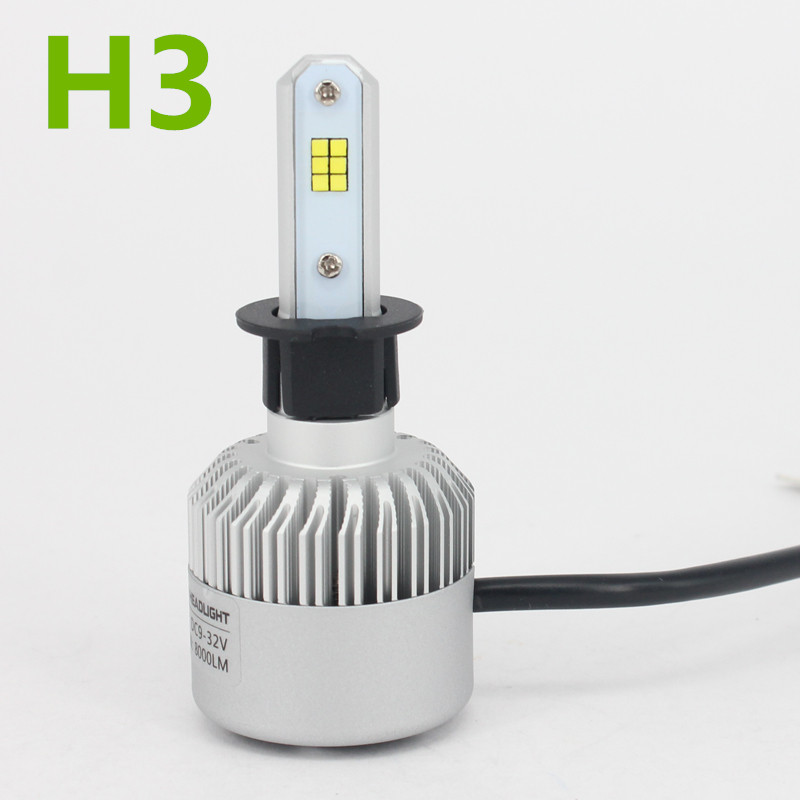 H3 CSP Led Headlight Single Beam Car Led Headllamp Bulb 6500K 8000LM Auto lights Source For Philips Chip Manufacturer Automoveis<br>