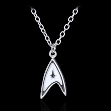 Star Trek Enterprise Command Logo Metal Neck Chain Necklace Communicator Darkness Starfleet Command Pendant(China)