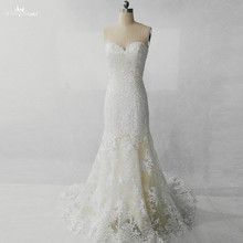 RSW1282 Sequin Beaded Lace Mermaid Wedding Dress