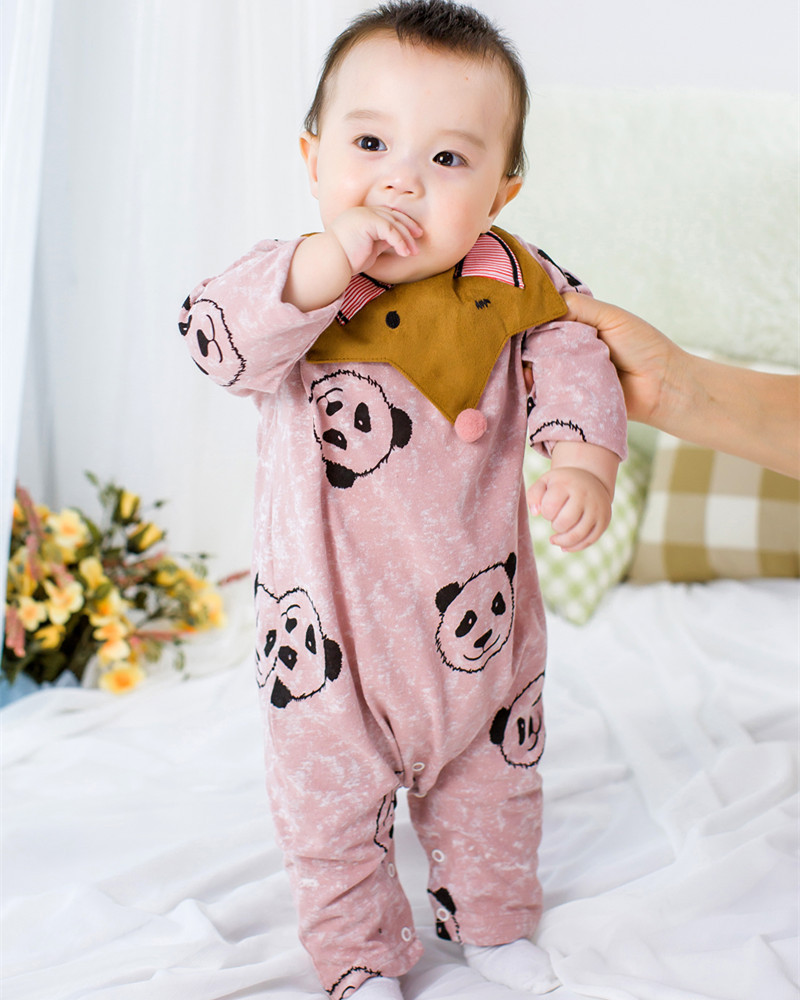 high quality!Winter &amp;autumn Long Sleeve  Infant Baby Romper+Bibs Cartoon bear Jumpsuit Boys Girls Bear Overall Clothes<br><br>Aliexpress