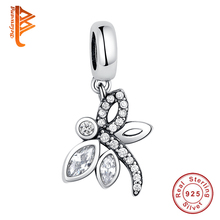 Wholesale Fashion 925 Sterling Silver Vivid dragonfly Animal Charm Beads Fit Pandora Original Bracelet diy Jewelry for Women