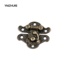 2017 Sale Jewelry Box Latches 50pcs 27*22mm Special Small Box Packing Buckle Antique Wooden Gift Lock Alloy Latch Hook Locks