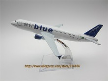16cm Metal Airplane Model Roumanian Air Blue AirBlue Airlines A320 AP-EDA Airbus 320 Aircraft Airways Plane Model W Stand