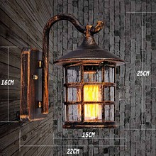 Good Quality metal glass Outdoor Rainproof Wall lamp ,garden porch building aisle front door stair cafe warehuse lights