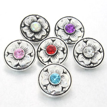 Boom Life 6 colors 2017 metal 18mm snap button jewelry Flower button pression bijoux watches women charm bracelets 010409(China)