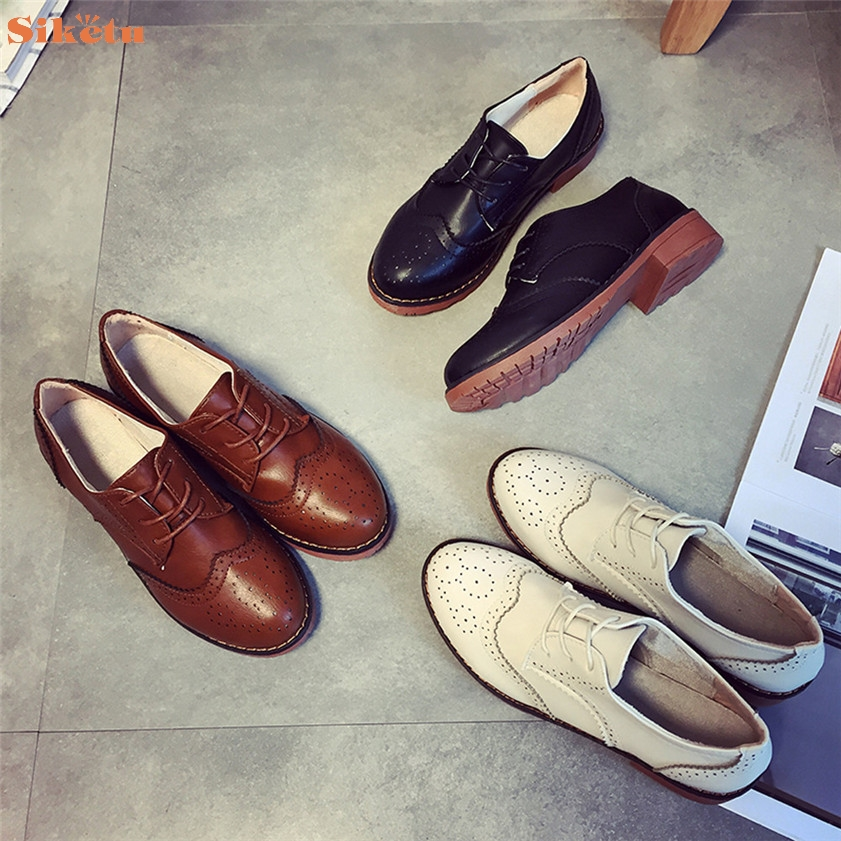 High quality Women Flats Fashion Shoes British Retro Shoes Carved Shoes<br><br>Aliexpress